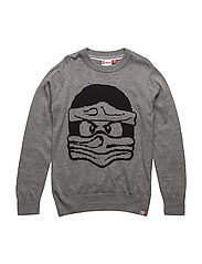 KYLE 701 - SWEATER (KNIT) - GREY MELANGE