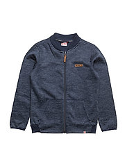 SEBASTIAN 202 - CARDIGAN FLEEC - DARK NAVY