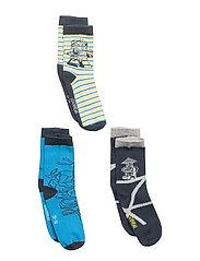 AIDEN 101 - 3-PACK SOCKS - BLUE