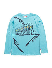 THOMAS 309 - T-SHIRT L/S - LIGHT TURQUISE