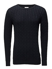 Cashmere Cable knit Adelgade - NAVY