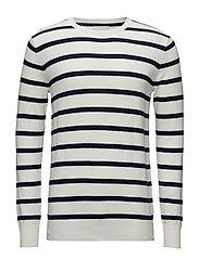 Knitwear Stripes Boat Master - NAVY/WHITE