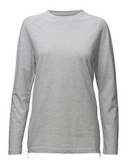 Ladies Sweat Pique Zipper - SNOW MELANGE