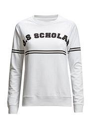 Ladies Sweatshirt Scholar - WHITE