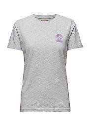 Ladies T-shirt Rosa TIT - SNOW MELANGE