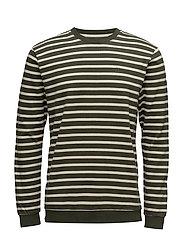 Seine T-Shirt L/S - KOMBU GREEN/OFF WHITE