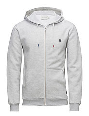 French Zipper Hoodie - SNOW MELANGE