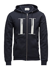 Carterton Zipper Hoodie - NAVY/OFF WHITE