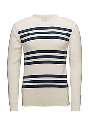 Barbés Knitwear - OFF WHITE/NAVY