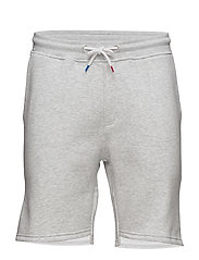 French Sweat Shorts - SNOW MELANGE