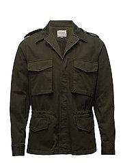 Militaire Canvas Jacket - KOMBU GREEN