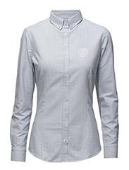Ladies Shirt Lucille - Blue/White