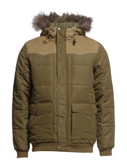 POLYFILLED PUFFER BURNT OLIVE - 01