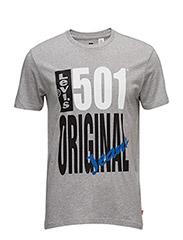 501® GRAPHIC TEE - 501 ORIGINAL MIDTONE GREY HTR