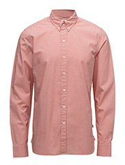 LS PACIFIC NO PKT SHIRT - WATERCRESS SUNSET RED