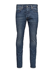 501 SKINNY SAINT MARK - MED INDIGO - WORN IN