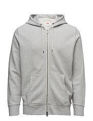 ORIGINAL ZIP UP HOODIE 2 MEDIU - GREYS