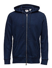 ORIGINAL ZIP UP HOODIE 2 DARK - BLUES