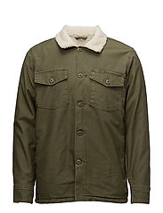 MILITARY SHERPA SHACKET OLIVE - GREENS