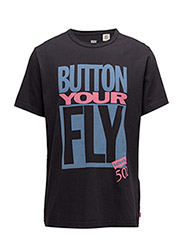 SS SURPLUS GRAPHIC TEE - BUTTON YOUR FLY DARK PHANTOM