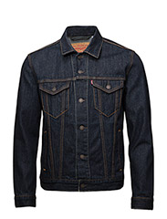 THE TRUCKER JACKET RINSE TRUCK - DARK INDIGO - FLAT FINISH