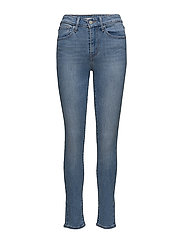 721 HIGH RISE SKINNY THIRTEEN - LIGHT INDIGO - WORN IN