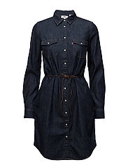 LS ICONIC WESTERN DRESS DARK W - BLUES