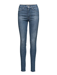 MILE HIGH SUPER SKINNY SHUT TH - MED INDIGO - WORN IN