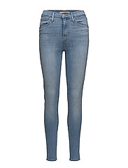 MILE HIGH SUPER SKINNY LA LA L - LIGHT INDIGO - WORN IN