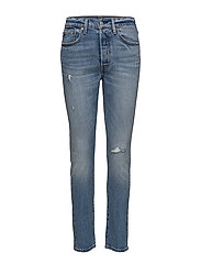 501 SKINNY POST MODERN BLUES - MED INDIGO - WORN IN