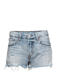 501 SHORT WAVELINE - MED INDIGO - WORN IN