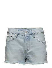 501 SHORT BOWIE BLUE SHORT - LIGHT INDIGO - FLAT FINIS