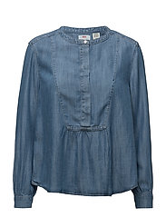 MARINA BLOUSE MEDIUM LIGHT WAS - BLUES