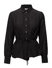 OKSANA SHIRT JET BLACK - BLACKS