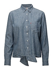 ABIGAIL SHIRT - DARK MID WASH