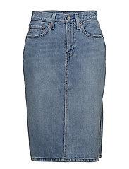 LEVI´S Women - Side Slit Skirt Blue Waves