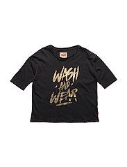 LS TEE WASH - BLACK