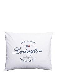 Lexington Printed Pillowcase - WHITE