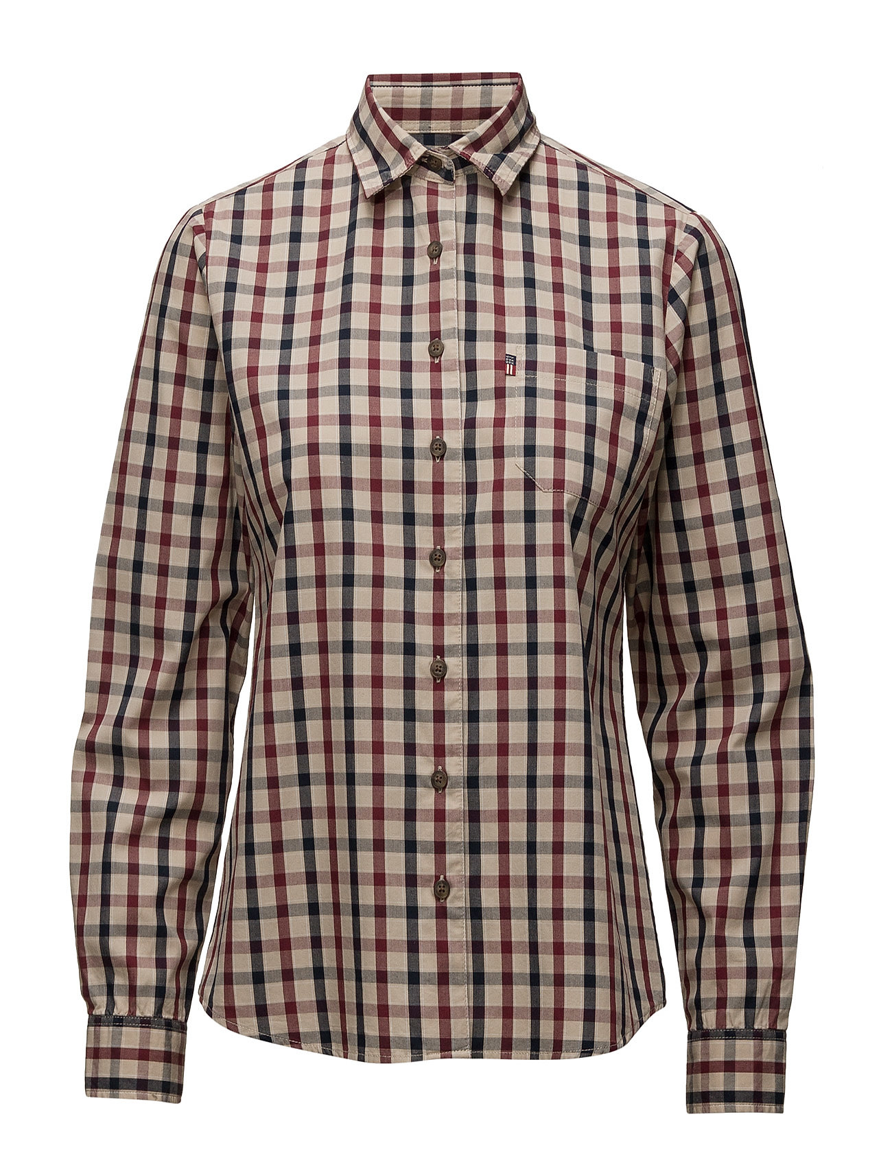 Emily Poplin Shirt Lexington Company Langærmede til Damer i