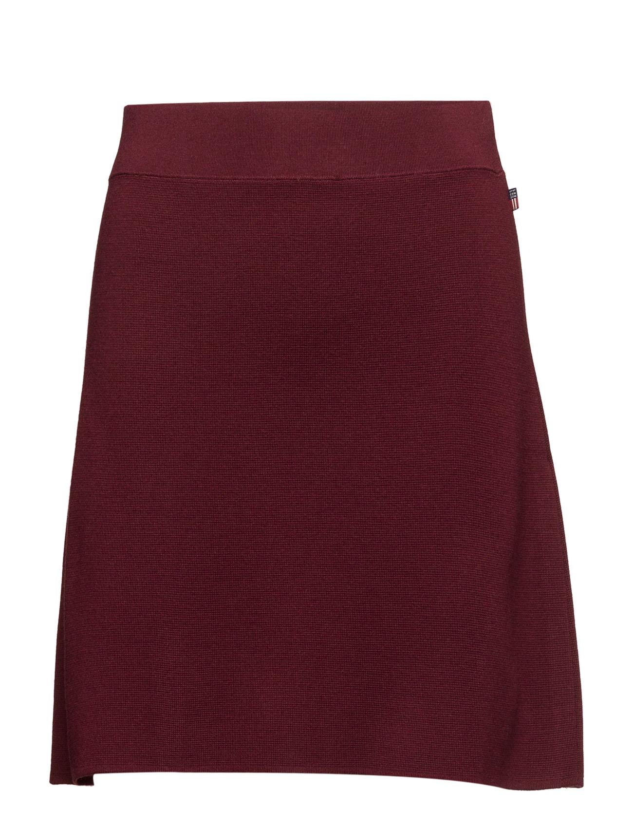 Chastity Knit Skirt Lexington Company Korte til Damer i Zinfandel Rød
