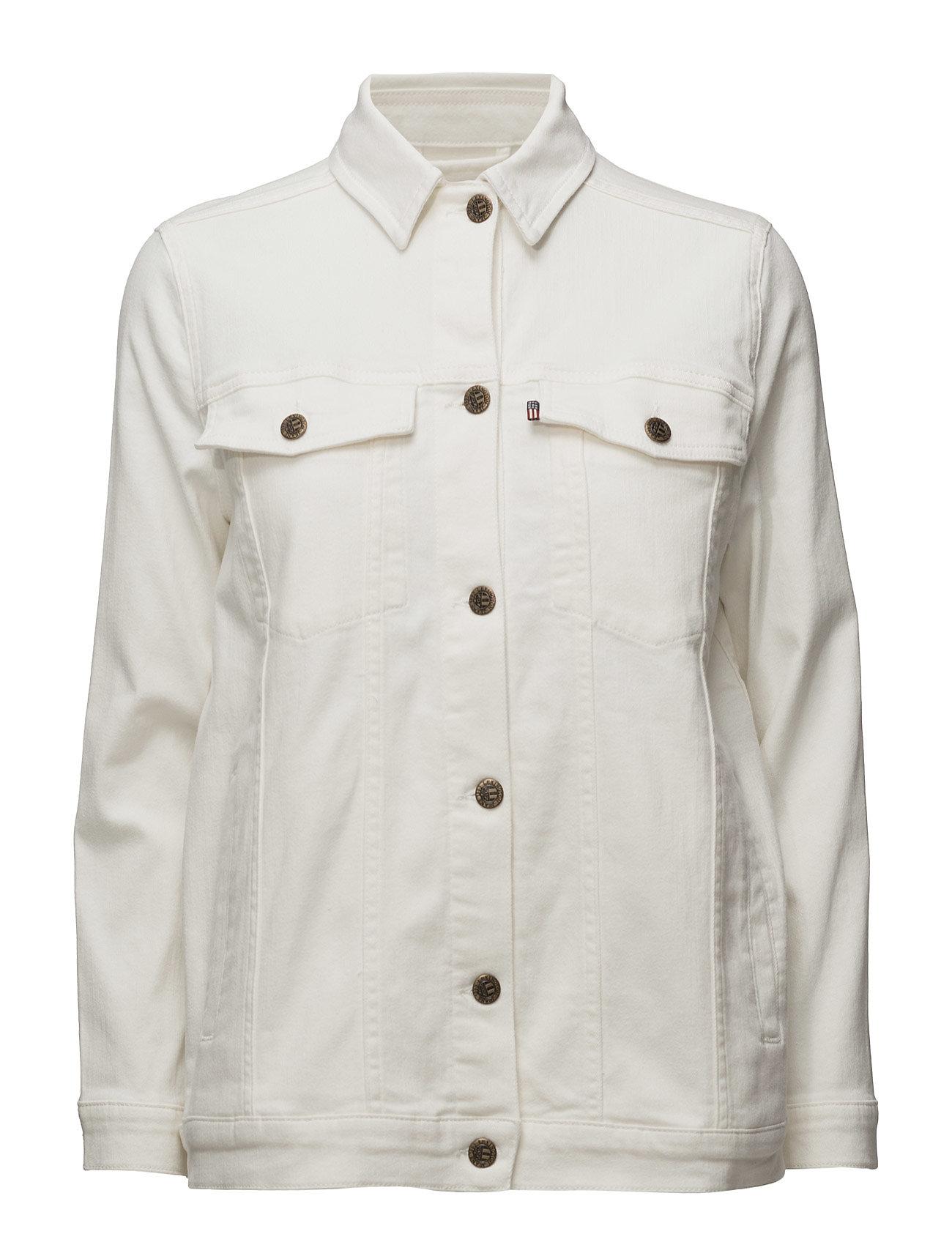 Pearl Denim Jacket Lexington Company Jakker til Kvinder i Sne hvid