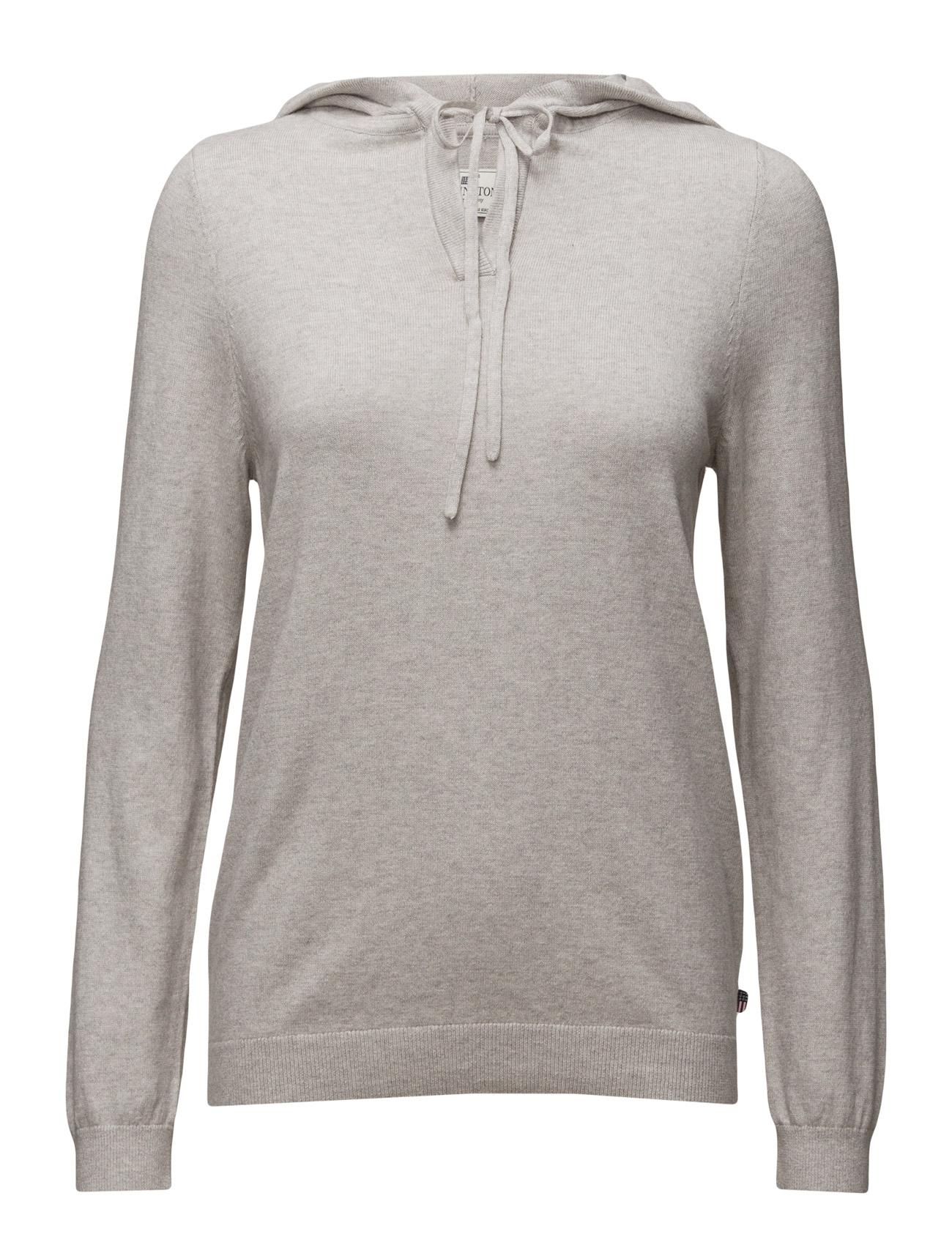 Bree Knitted Hood Lexington Company Sweatshirts til Kvinder i Lt Warm Gray Mel