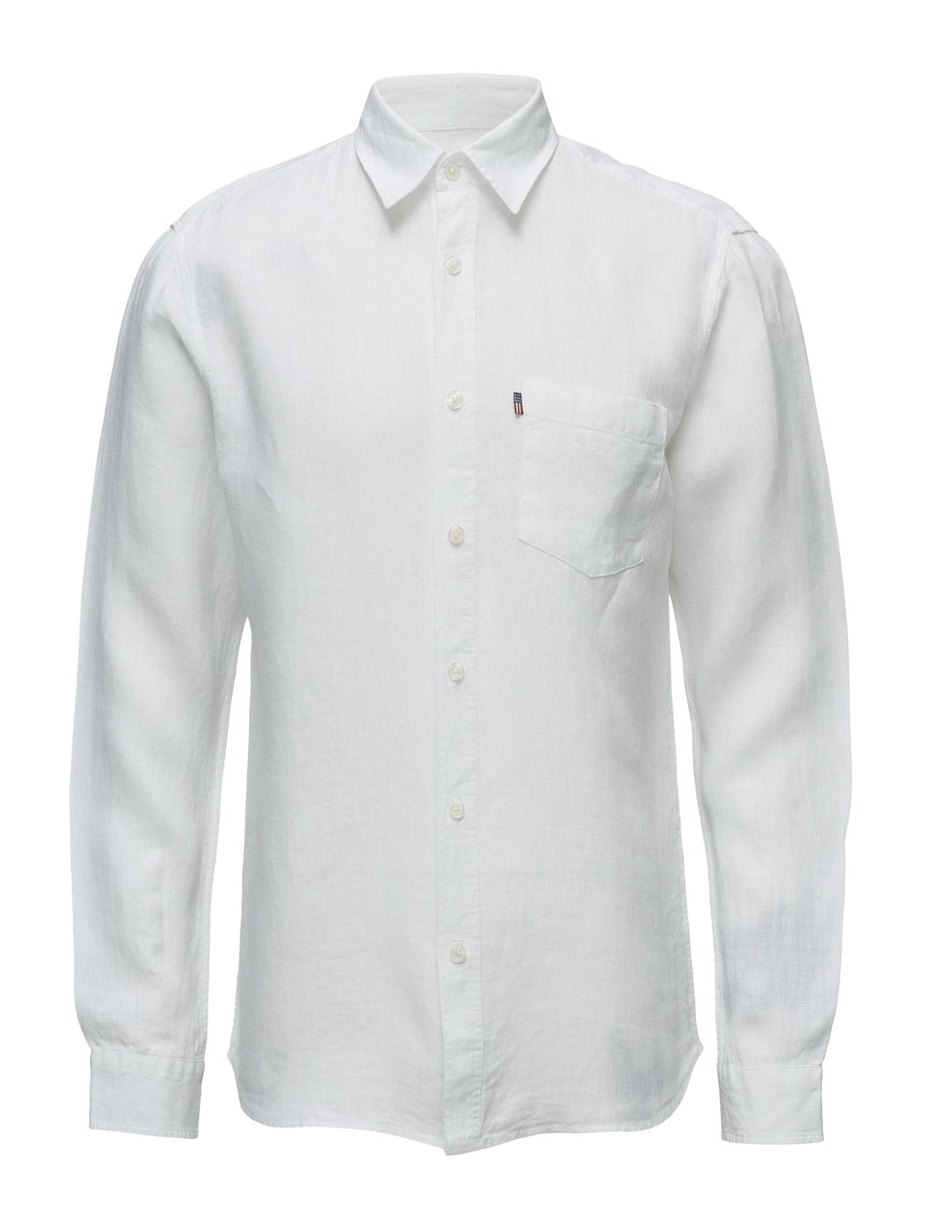 Ryan Linen Shirt Lexington Company Casual sko til Herrer i Bright White