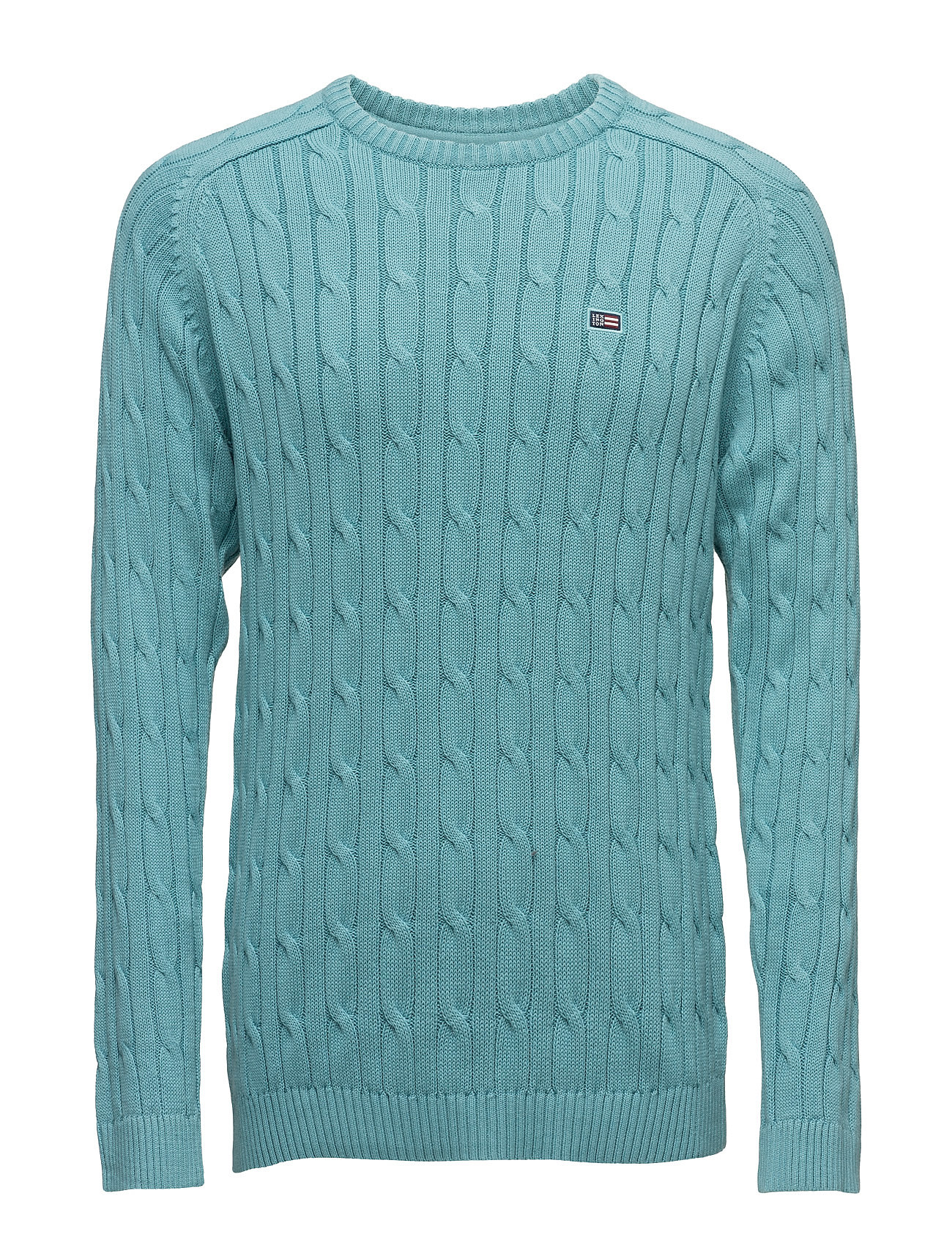 Andrew Cotton Cable Sweater Lexington Company Rundhalsede til Herrer i