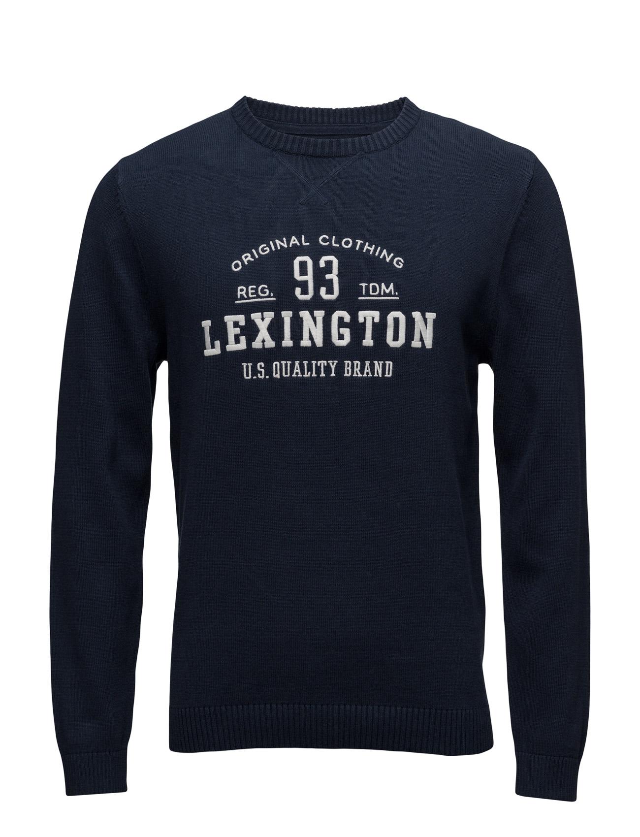 Nelson Knitted Sweatshirt Lexington Company Runda Necked