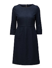 Shelby Wool Dress - DEEPEST BLUE