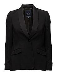 Badette Smoking Jacket - CAVIAR BLACK