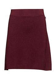 Chastity Knit Skirt - ZINFANDEL RED