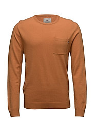 Jeff Crew Neck Sweater - NUGGET YELLOW