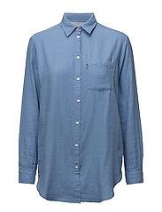 Isa Guaze Shirt - ALLURE BLUE